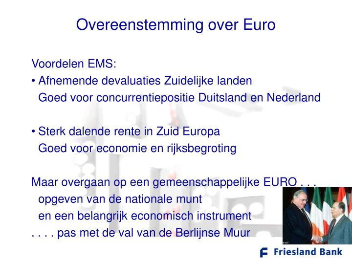 Overeenstemming over Euro