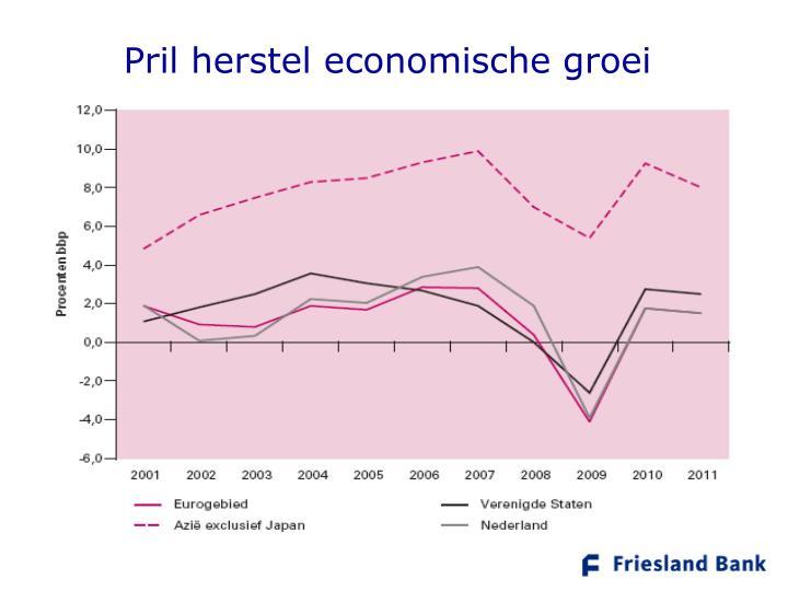 Pril herstel economische groei