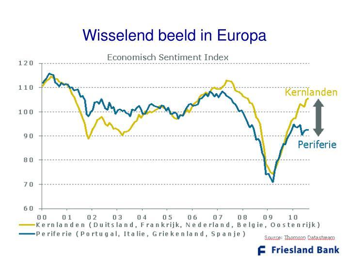 Wisselend beeld in Europa