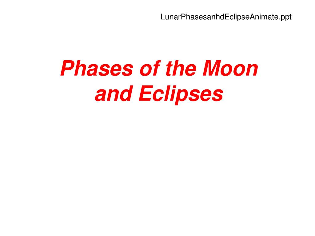 LunarPhasesanhdEclipseAnimate.ppt