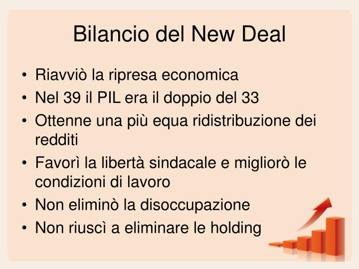 Bilancio del New Deal