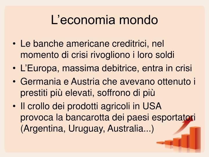 L'economia mondo