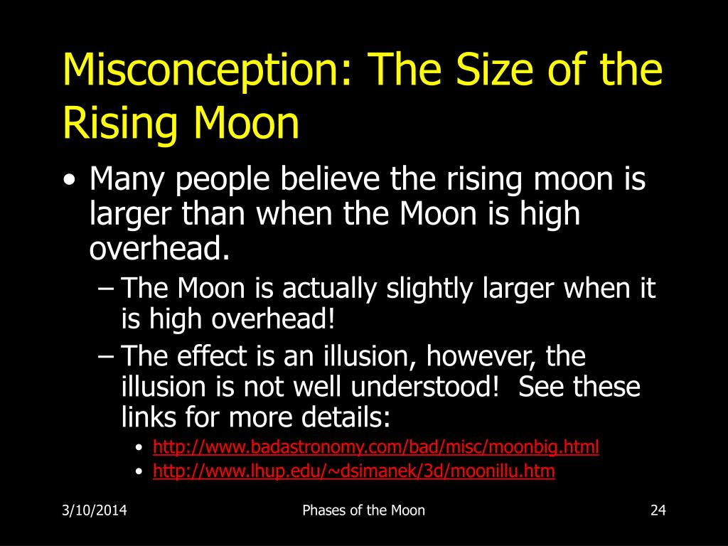 Misconception: The Size of the Rising Moon