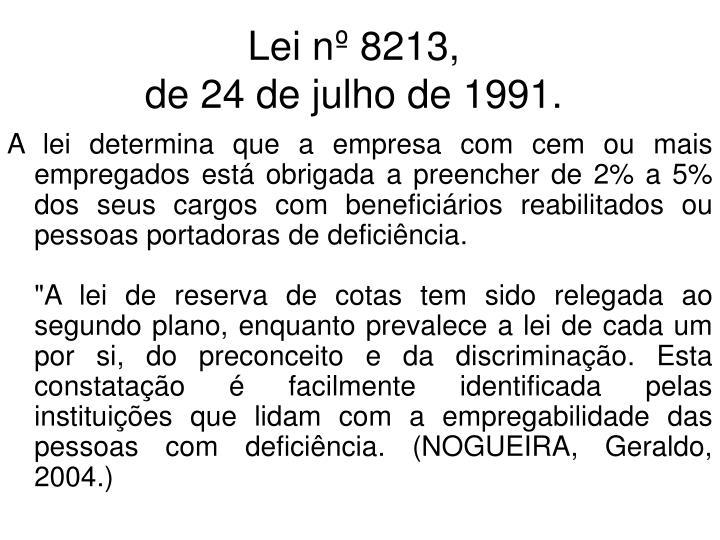 Lei nº 8213,