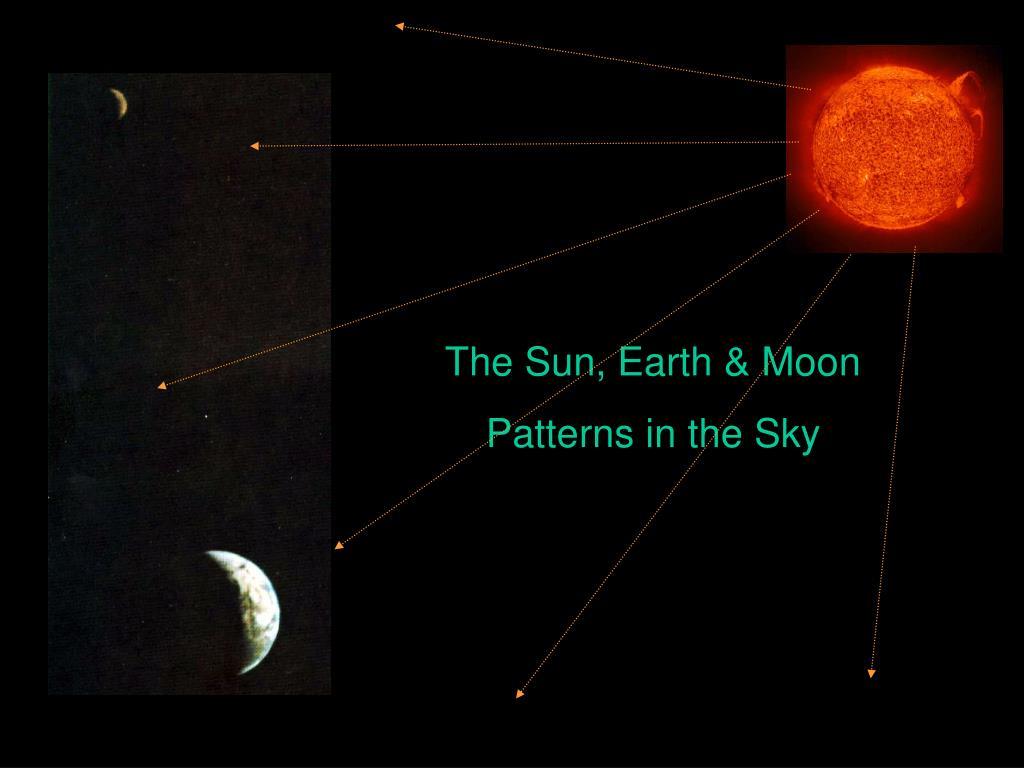 The Sun, Earth & Moon