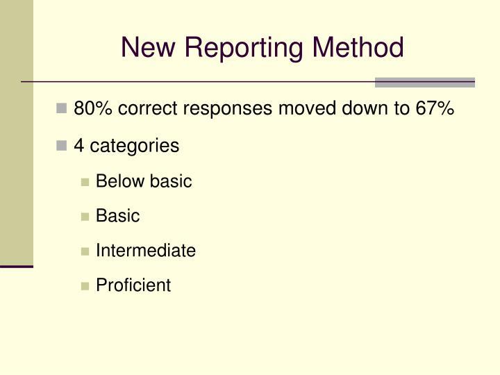 New Reporting Method
