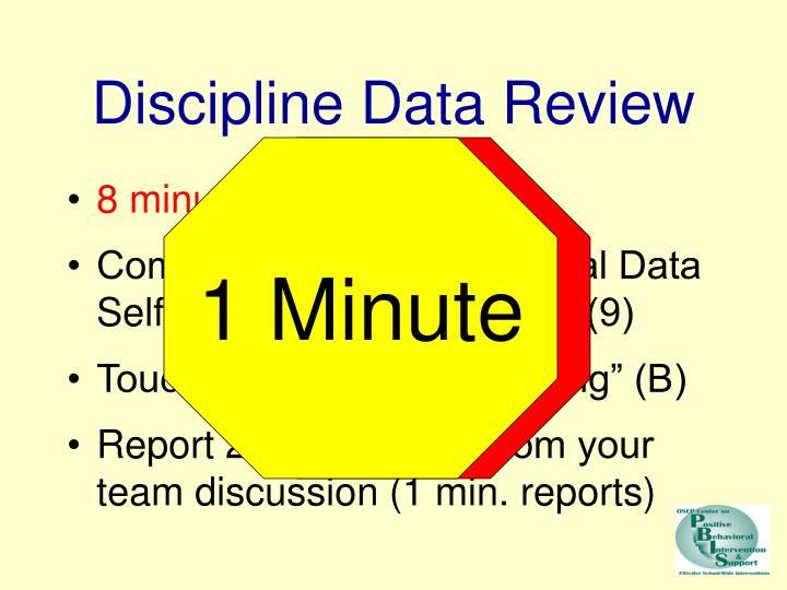 Discipline Data Review