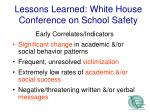 lessons learned white house conference on school safety1