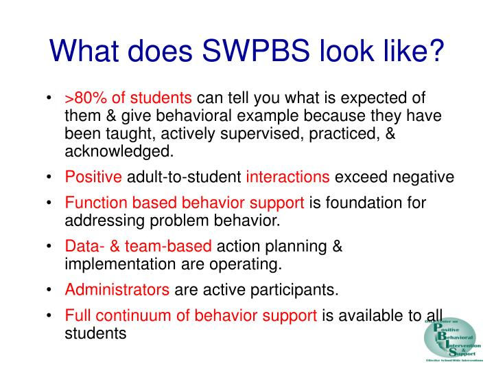 What does SWPBS look like?