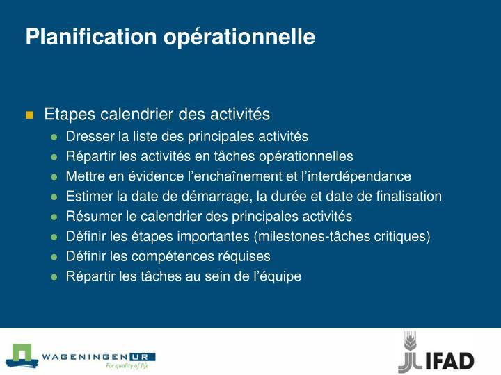 Planification opérationnelle