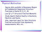 physical motivation