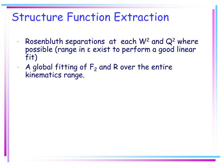 Structure Function Extraction
