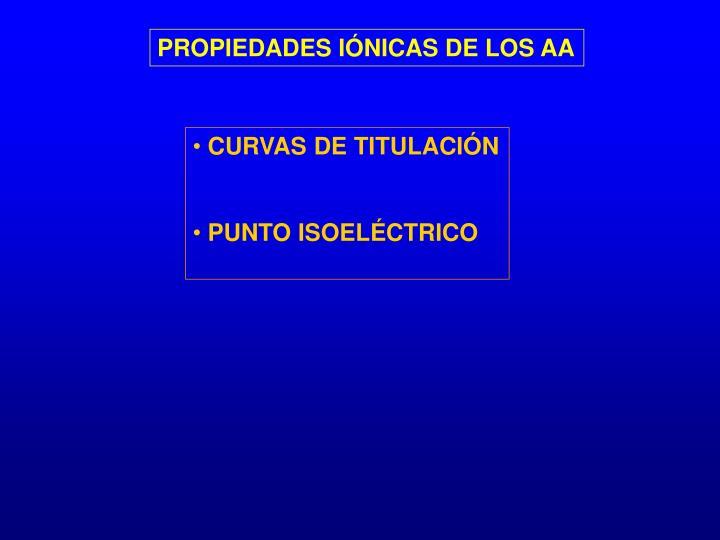 PROPIEDADES IÓNICAS DE LOS AA