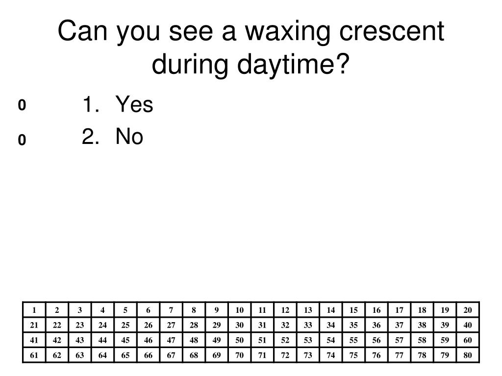 Can you see a waxing crescent during daytime?