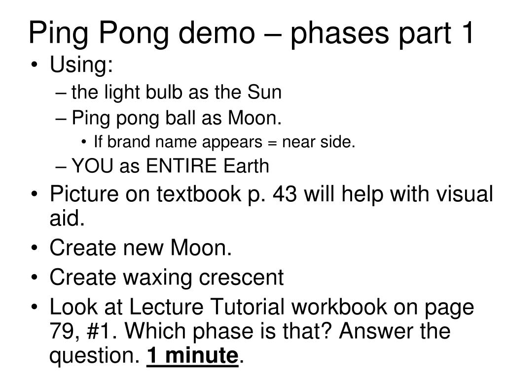 Ping Pong demo – phases part 1