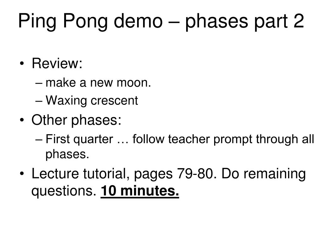 Ping Pong demo – phases part 2