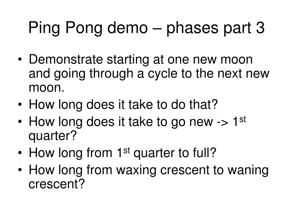 Ping Pong demo – phases part 3
