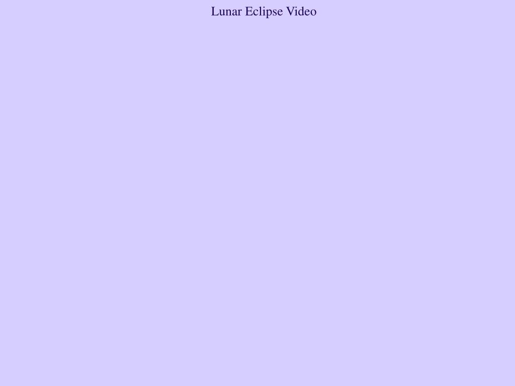 Lunar Eclipse Video
