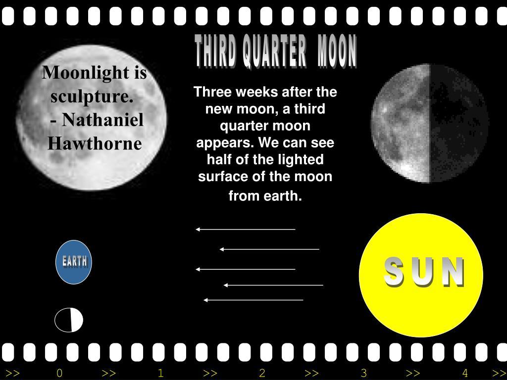 Moonlight is sculpture.