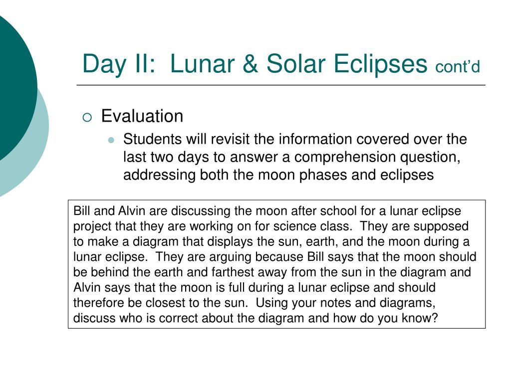 Day II:  Lunar & Solar Eclipses