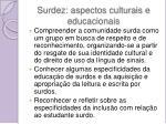 surdez aspectos culturais e educacionais