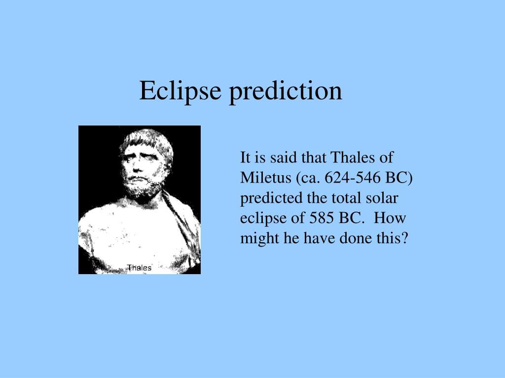 Eclipse prediction