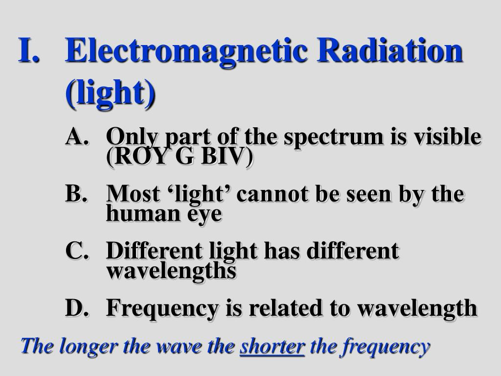 Electromagnetic Radiation   (light)