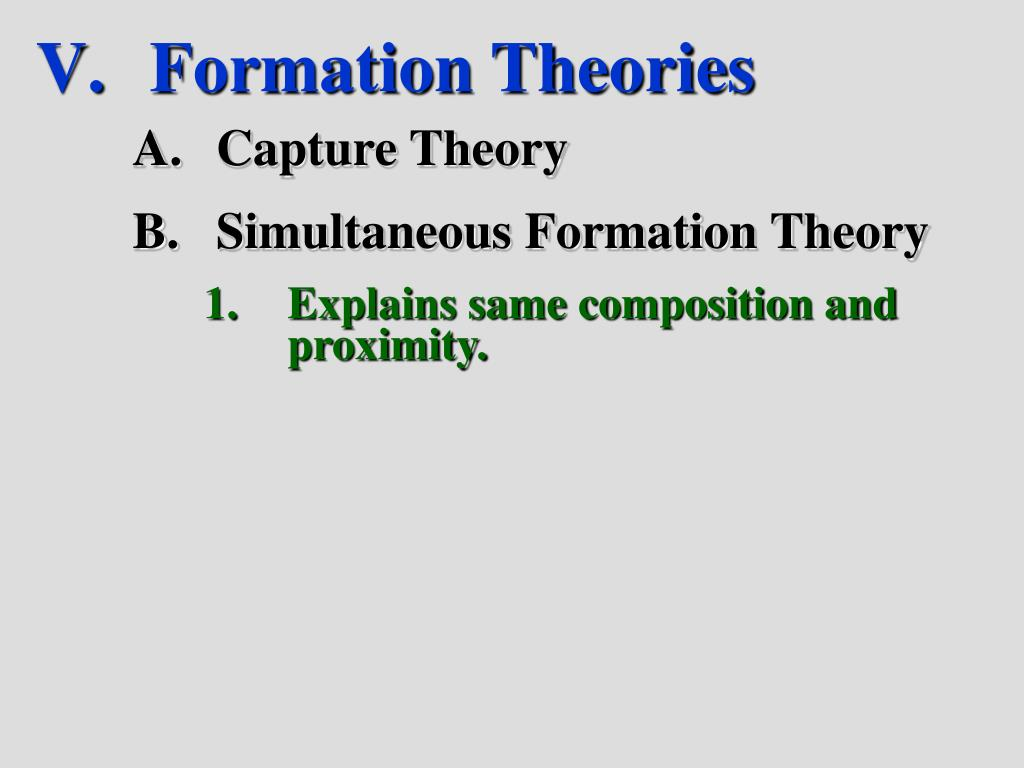 Formation Theories