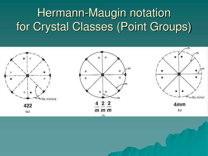 Hermann-Maugin notation