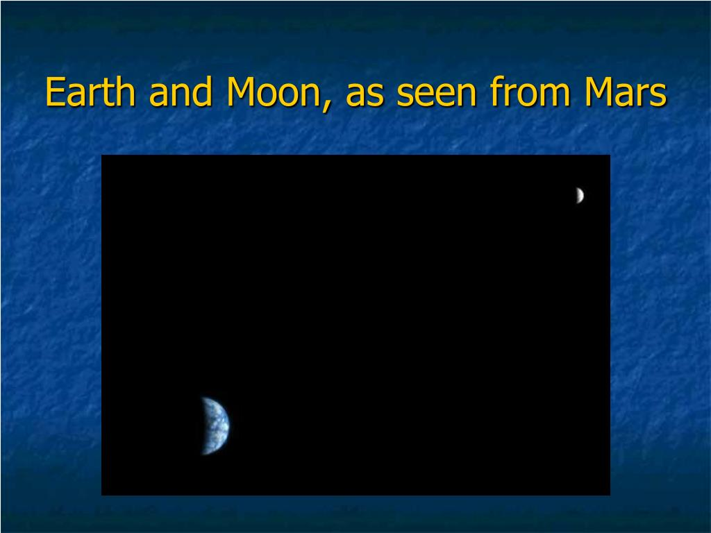 Earth and Moon, as seen from Mars