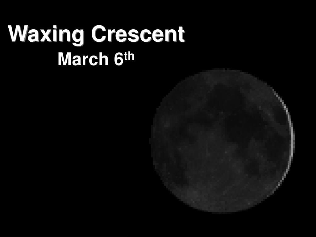Waxing Crescent
