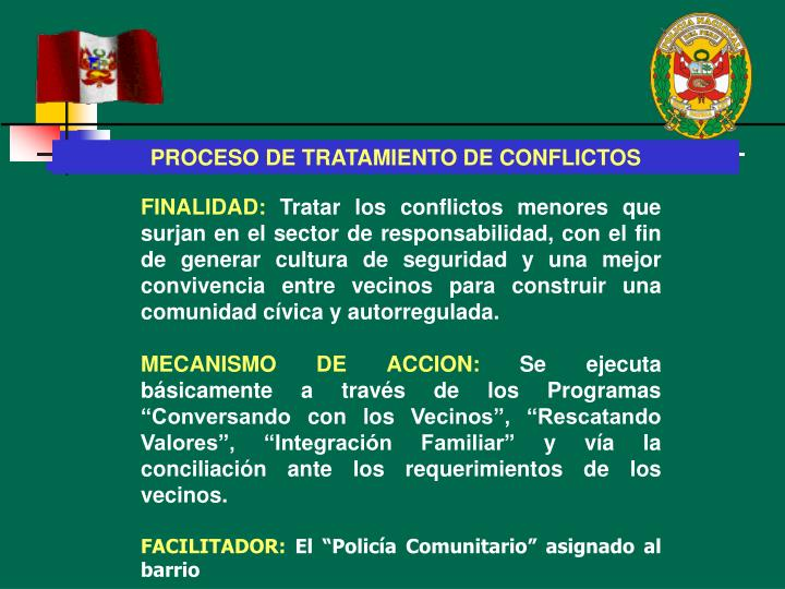 PROCESO DE TRATAMIENTO DE CONFLICTOS