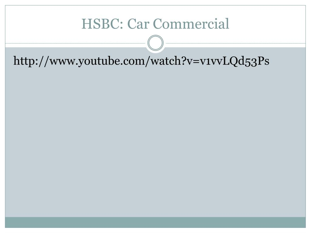 HSBC: Car Commercial