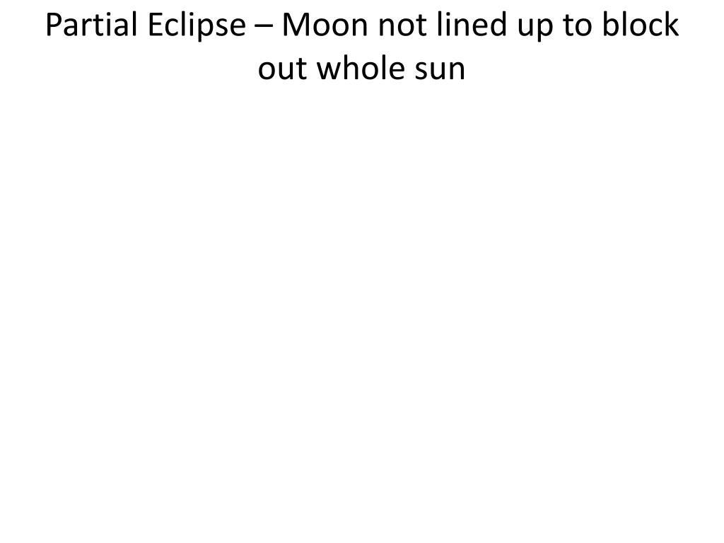 Partial Eclipse – Moon not lined up to block out whole sun