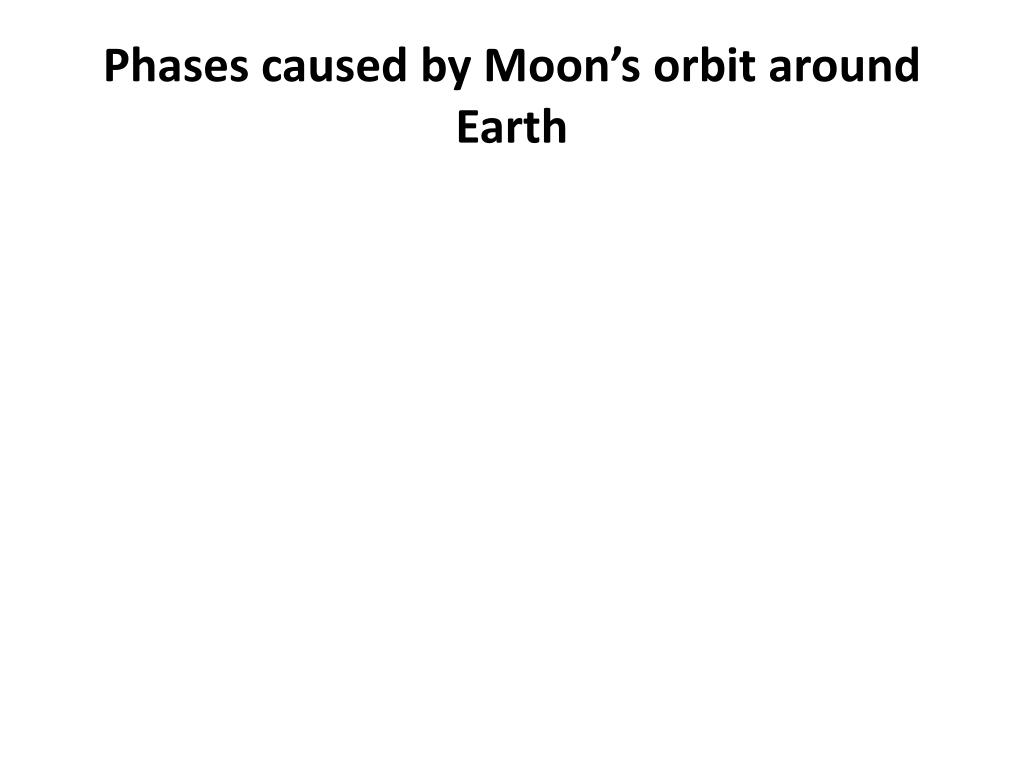 Phases caused by Moon's orbit around Earth