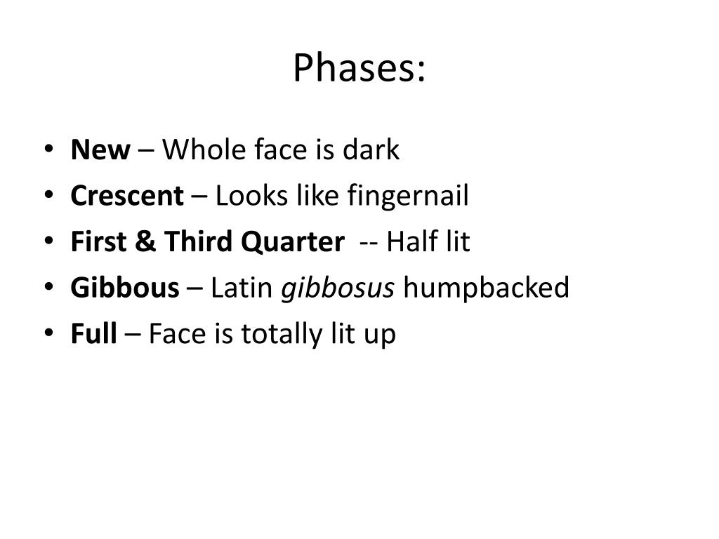Phases: