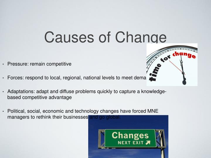 Causes of change