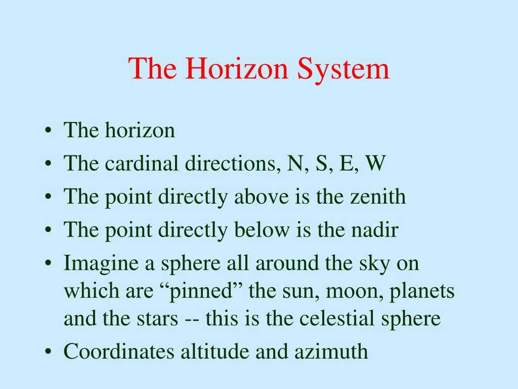 The Horizon System