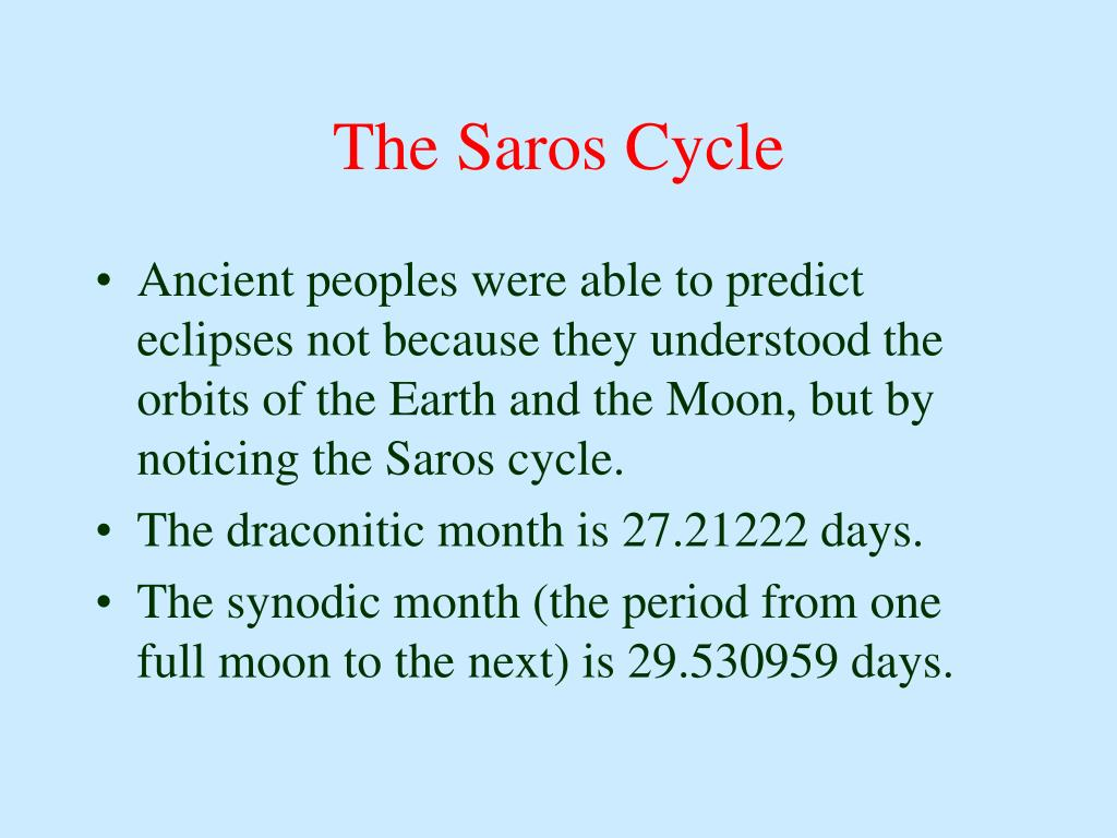 The Saros Cycle