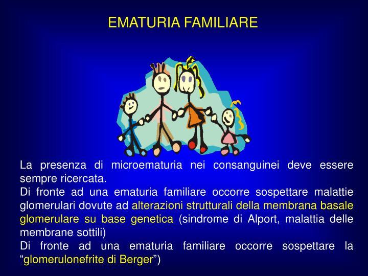 EMATURIA FAMILIARE