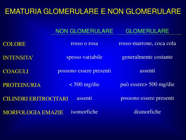 NON GLOMERULARE
