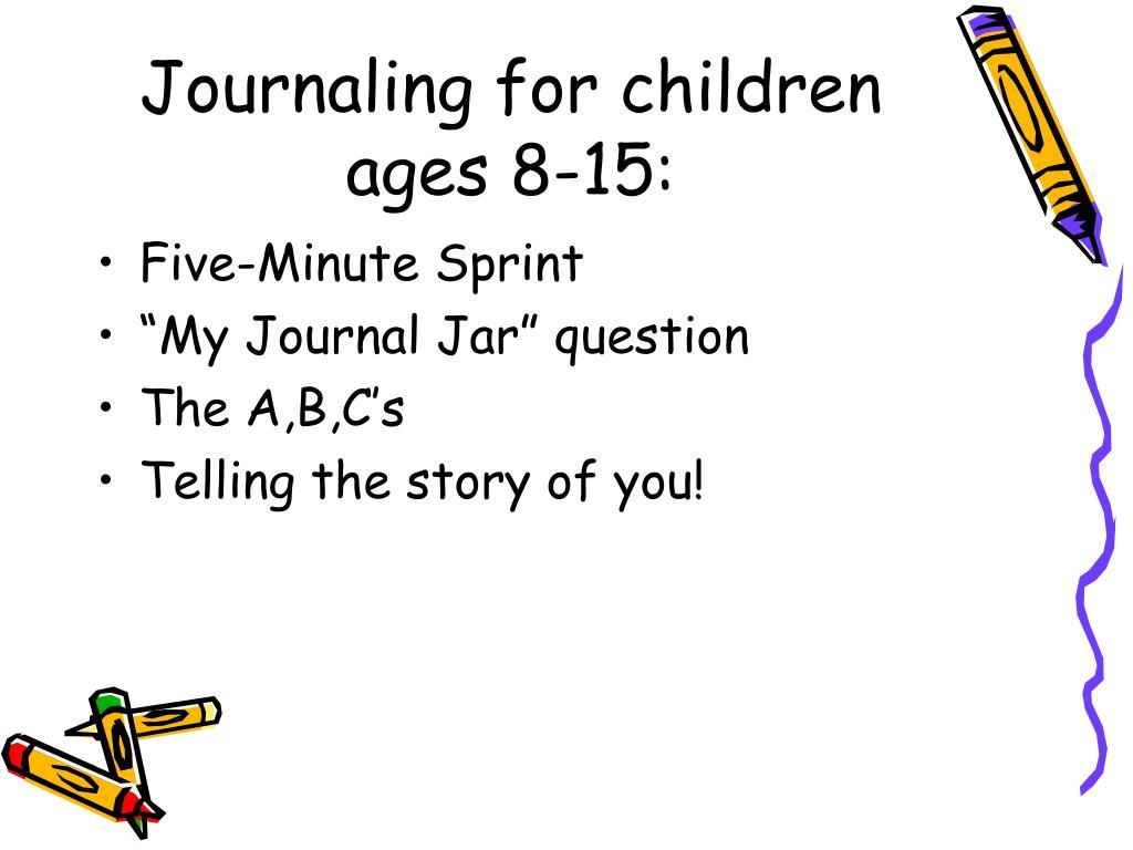 Journaling for children