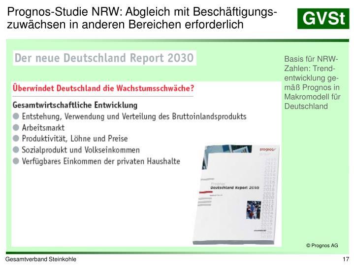Prognos-Studie NRW: Abgleich mit Beschäftigungs-zuwächsen in anderen Bereichen erforderlich