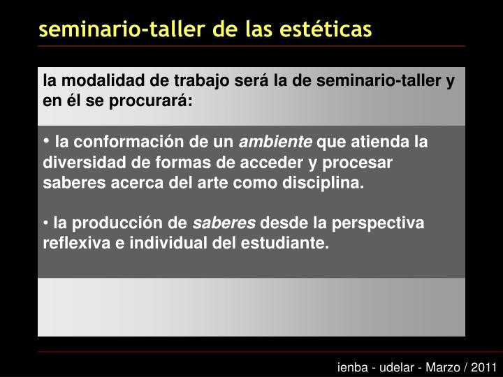 seminario-taller de las estéticas
