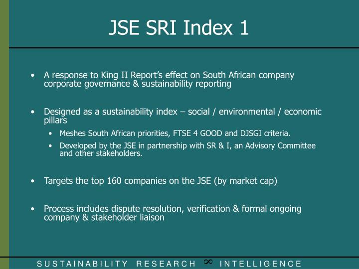 A response to King II Report's effect on South African company corporate governance & sustainability reporting
