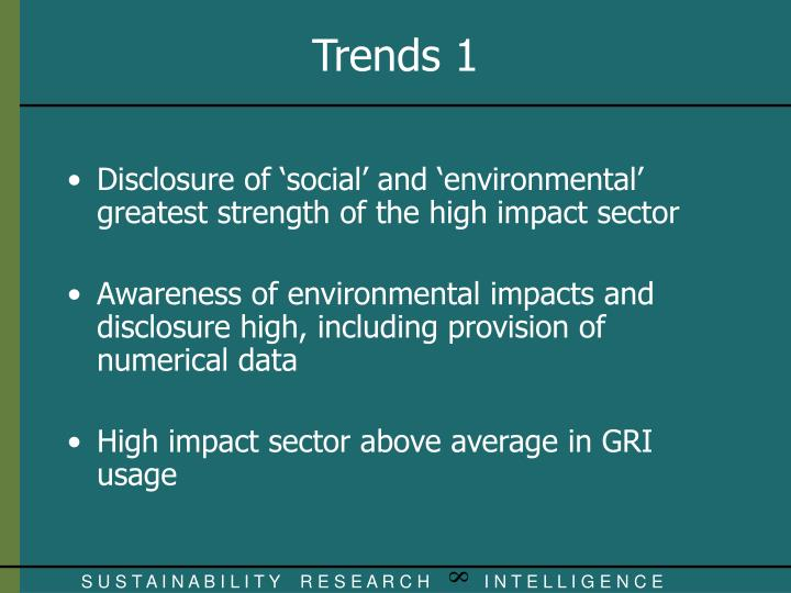 Disclosure of 'social' and 'environmental' greatest strength of the high impact sector