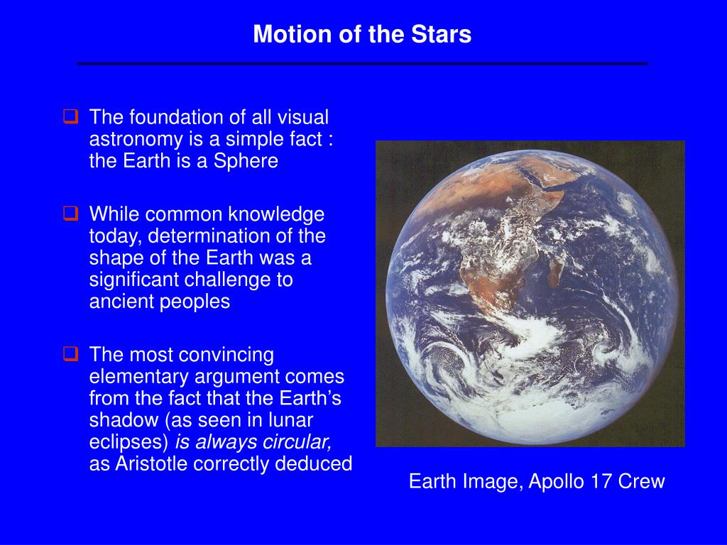Motion of the Stars