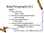 body paragraphs 3