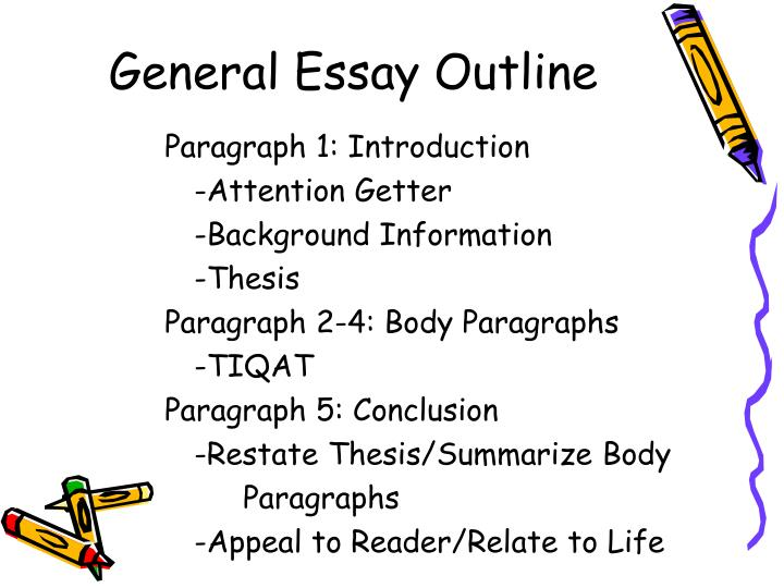 General essay outline