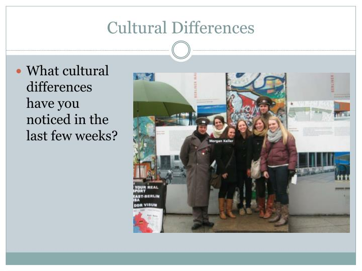Cultural differences2